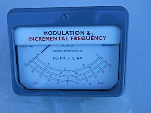 Marconi Instruments Tm 3970 52 Modulation And Incremental Frequency Gauge