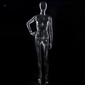 Full Body Clear Female Mannequin With Head New Fashion Store Window Display