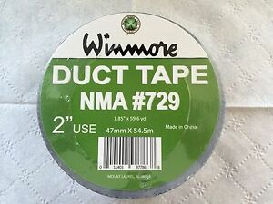 2 Silver Duct Tape 47mmx 54m 1 Case 24 Rolls 3 75 Roll Free Shipping