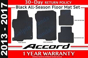 Genuine Oem Honda Accord 4 Dr Black All Season Floor Mat Set 13 17 08p13 T2a 110