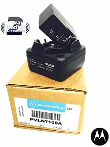 Real Genuine Motorola Rapid Rate Single Unit Charger Mototrbo Sl300 Pmln7109a