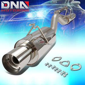 4 Muffler Tip Stainless Steel Exhaust Catback System For 06 11 Civic Si Fg2 K20