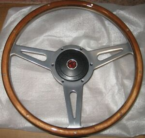 New 14 Wood Steering Wheel And Adaptor For Mgb 1970 1976 Mg Midget 1970 1977