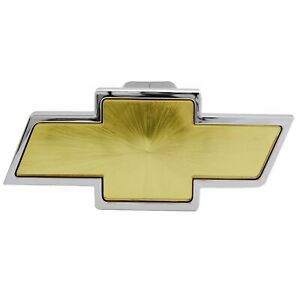 Bully Trailer Hitch Receiver Cover Chrome Chevrolet Logo W Gold Center Cr132