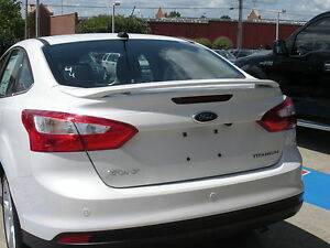 506 Primered Factory Style Spoiler Fits The 2012 2014 Ford Focus Sedan