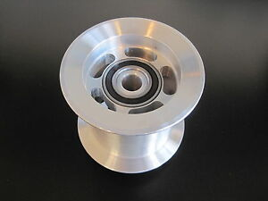 New Billet Aluminum 3 Idler Pulley Dual Bearing Dragster Funny Car Blower