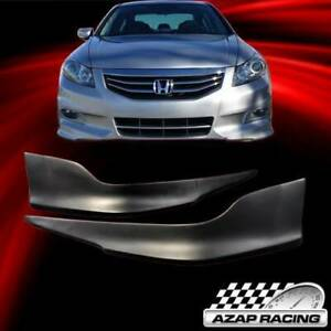 11 12 Pp Oe Style Front Bumper Lip Spoiler Splitter Fit Honda Accord Sedan 2pcs