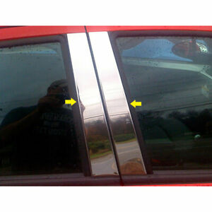 4pc Luxury Fx Chrome Pillar Post Trim Fit For 2013 2015 Chevy Spark