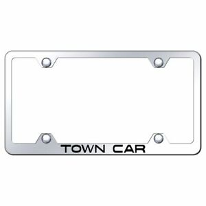 Lincoln Town Car Mirroed Chrome Stainless Steel License Plate Frame