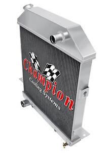 1939 40 41 Ford Deluxe Champion Ca 3 Row Radiator