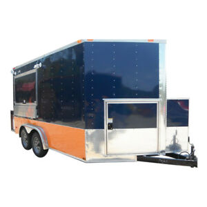 Concession Trailer 7 x13 Blue Vending Catering Event Food