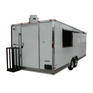 Concession Trailer 8 5 x24 White Custom Vending Food Catering