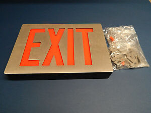 Lithonia Lighting Lightalarms Uxa Led Exit Sign 120volt