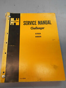 Hyster Forklift Service Manual Challenger H700a H800a