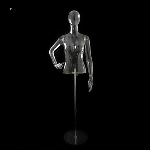 A Boutique Store Stand Female Mannequin With Egghead And Base qianwan Displays