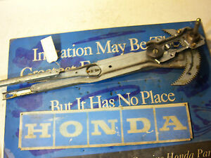 1995 Honda Civic 2dr Passenger Right Window Regulator Manual Crank