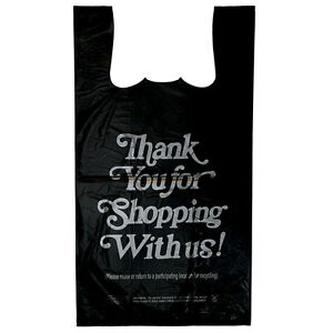 1 6 12x7 5x23 400 bx Retail T shirt Plastic Thank You Bags Commercial Address