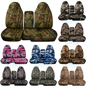 1991 2012 Ford Ranger 60 40 Camo Truck Seat Covers W Console Armrest Split Bench