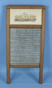 Vintage Columbus Washboard Co Dubl Handi With Needlepoint Welcome Lingerie