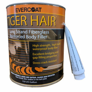 0 8 Gallon Evercoat Tiger Hair Long Strand Fiberglass Auto Body Filler 1190