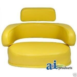 3 Piece Yellow Seat Cushion Set John Deere 3010 4020 4320 4430 4630 6030 7520 bg