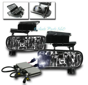 99 02 Chevy Silverado 00 06 Suburban Tahoe Bumper Chrome Fog Lights Lamp 10k Hid