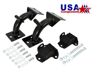 1968 72 Chevy Truck And Gmc Truck Tubular V 8 Engine Mount Brackets