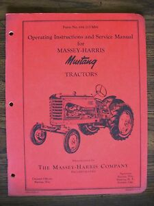 Massey Harris Mustang Owners Manual