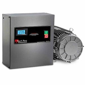 3 Hp Rotary Phase Converter Tefc Voltage Display Power Protected Gp3plv