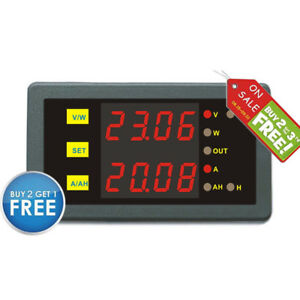 Dc Programmable 0 90v 0 500a Voltage Amp Ah Power Combo Meter Battery Monitor