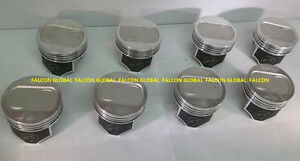 Speed Pro Trw Ford 351w Forged Coated Skirt 13 2cc Dish Pistons Set 8 030