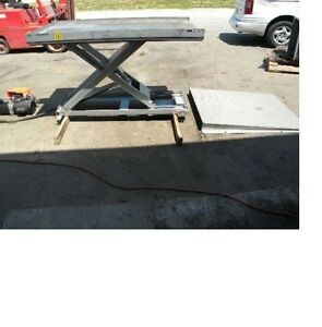 Southworth Scissor Lift Table 4 000 Lb Capacity 36 X 66 Table With Ramp
