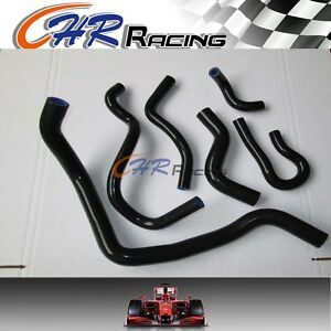 Black For 92 00 Honda Civic Eg Eg6 Ek D15 D16 Radiator Silicone Hose 1999 1998