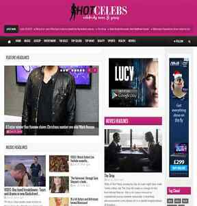 Turnkey News Website 100 Automated Hot Wordpress Celebrity Gossip Blog