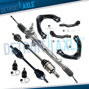 9pc Complete Power Steering Rack And Pinion Suspension Kit For Honda Civic W abs