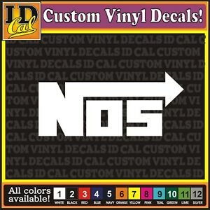 Nos Nitrous Oxide Racing Car Truck Moto Vinyl Logo Decal Sticker