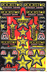 Rockstar Energy Sticker Motocross Motorcycle Skateboard Mtb Atv Enduro Decal 22