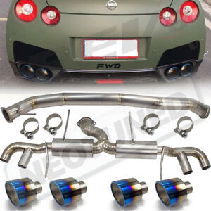 Rev9 Cat Back Exhaust Titanium 3 5 Inch Mid Pipe For Nissan Gt R 2009 17 R35