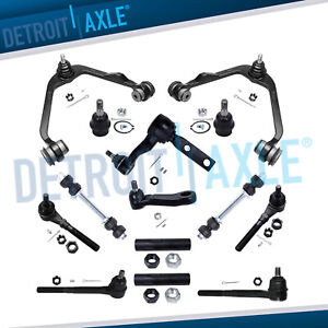 14pc Front Upper Control Pitman Idler Arm Tierod For 1997 2002 Ford F 150 Rwd