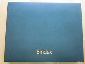 Bindex A5black Leather Planner Notebook Binder Date Book Any Year Nib