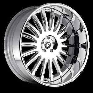 22 Inch Forgiato Espoto Bmw Mercedes Lexus Audi Staggered Wheel Rim Chrome