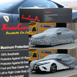 2015 2016 Toyota Camry Breathable Car Cover W mirror Pockets Gray