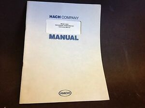 Hach User Manual 19800 Laboratory Backwash Turbidimeter Original Oem Specs 50