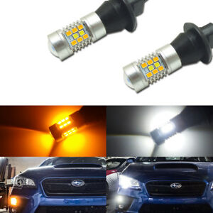 2 7440 T20 Single filament Dual color Switchback Led Drl Turn Signal Light Kit