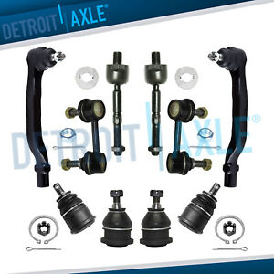 Honda Accord Acura Tl Cl 10p Inner Outer Tierod Upper Lower Ball Joint Sway Bars