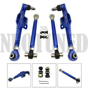 Blue Fit 89 94 240sx 180sx S13 Adjust Front Lower Control Arm high Angle Tension