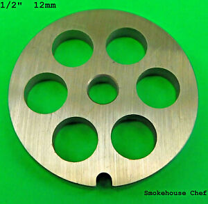 1 2 12 Mm Replacement Plate For Smokehouse Chef Meat Grinder For Kitchenaid