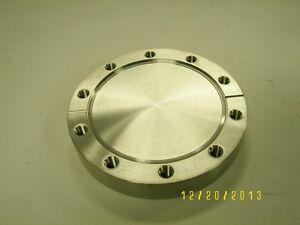 High Vacuum Research Chamber 4 1 2 Blank Flange Excellent Mdc Varian