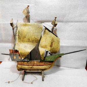 Antique Wooden Santa Maria Nautical Ship Model Lb C0589