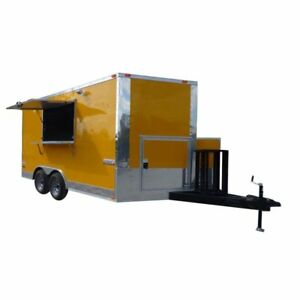 Concession Trailer Yellow 8 5 x 14 Food Vending Event Catering